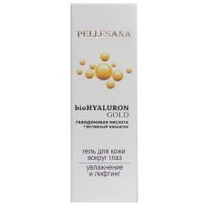 Гиалуроновая кислота+активный коллаген bioHYALURON GOLD гель для кожи вокруг глаз 15 мл